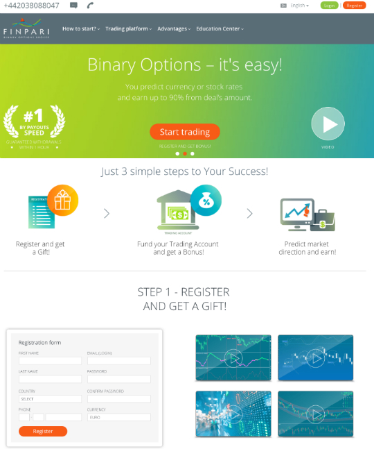 Finpari binary options broker