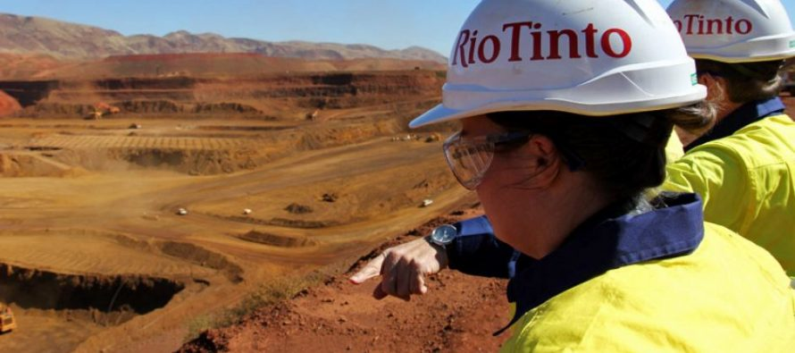 Rio Tinto to Decline on Fall in Iron Ore Prices
