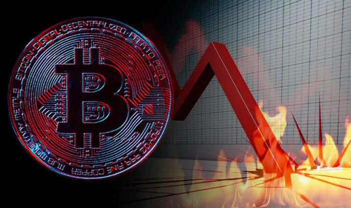 Crashing Bitcoin - infographics - August 2018