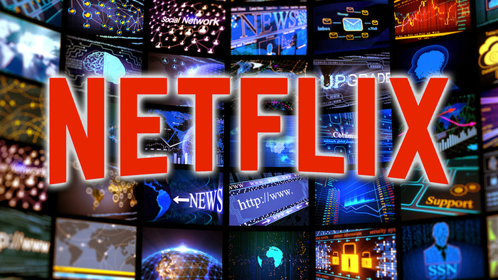 netflix logo with multiple screens in background - graphic- 8th October 2018
