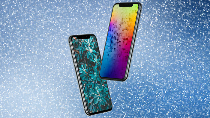 Two iPhones on a starry background - graphic - 12th April 2019