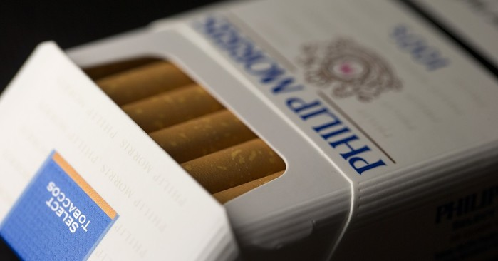 Philip Morris cigarette pack - photo - 30th April 2019