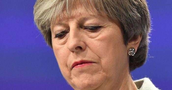 Theresa May looking dissapointed - photo - 13th May 2019