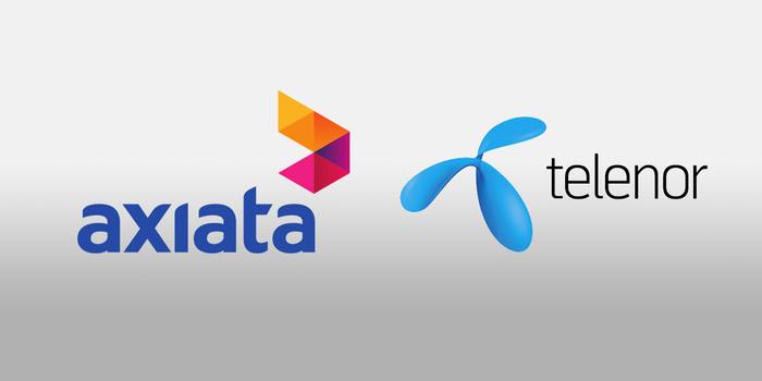 Telenor and Axiata logos - graphic - 8th May 2019