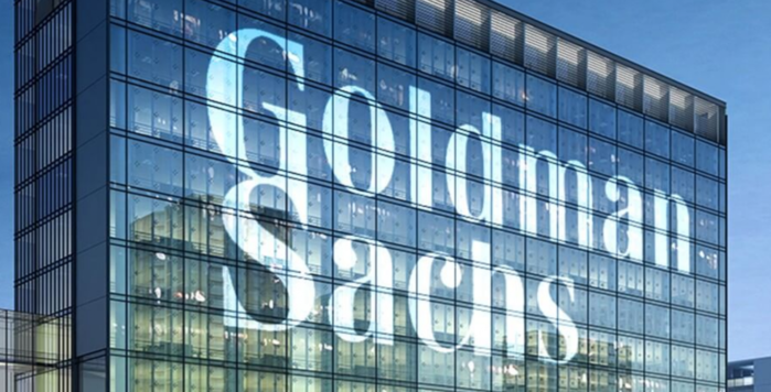 Glass building with Goldman Sachs name on - photo - 16th Oct 2019