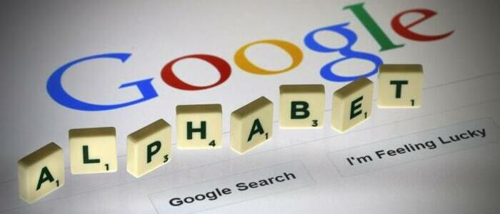 Google logo and Alphabet spelled out in scrabble tiles - graphic - 5th Feb 2020