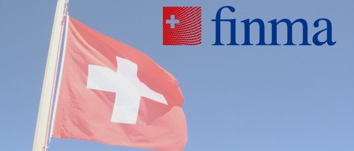 FINMA logo and Swiss flag - graphic - 11th Feb 2020