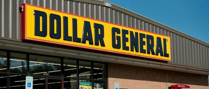 Outside view of the Dollar General store - photo - 13th March 2020