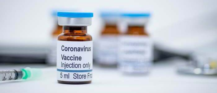 """Injectable ampule with the words """"Coronavirus Vaccine"""" - photo - 11th March 2020"""