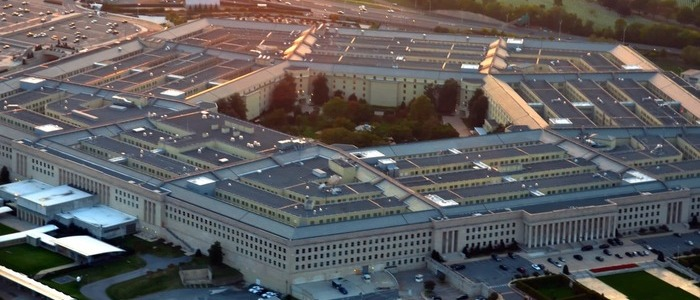 Aerial view of the Pentagon - photo - 16th March 2020