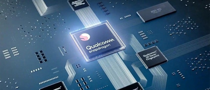 Qualcomm Snapdragon semiconductor chip in a smartphone - photo - 18th May 2020