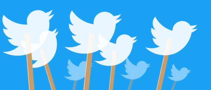 Twitter logo atop ice-cream sticks - graphic - 1st May 2020