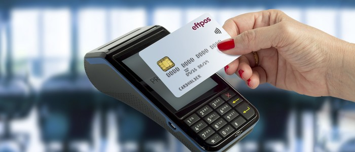 Eftpos point of sale machine and card