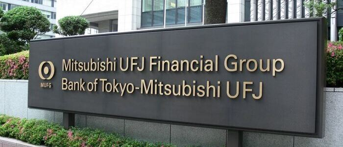 Mitsubishi UFJ Financial Group sign board