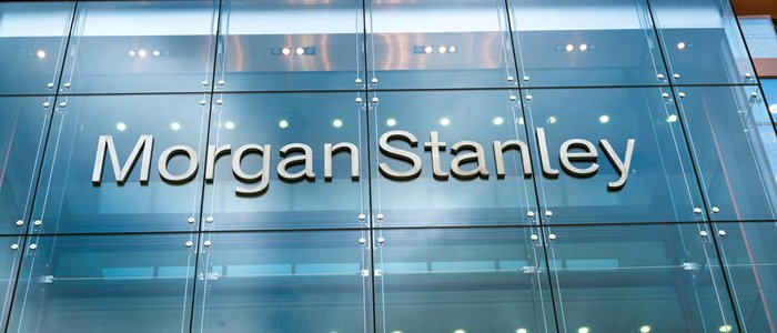 Morgan Stanley name on office building